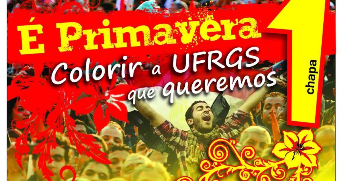 Vitória da chapa É Primavera no DCE da UFRGS sobre a direita!