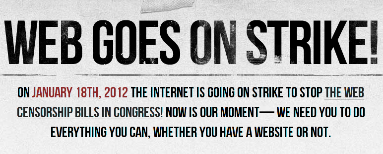 Apagão na internet contra o SOPA!
