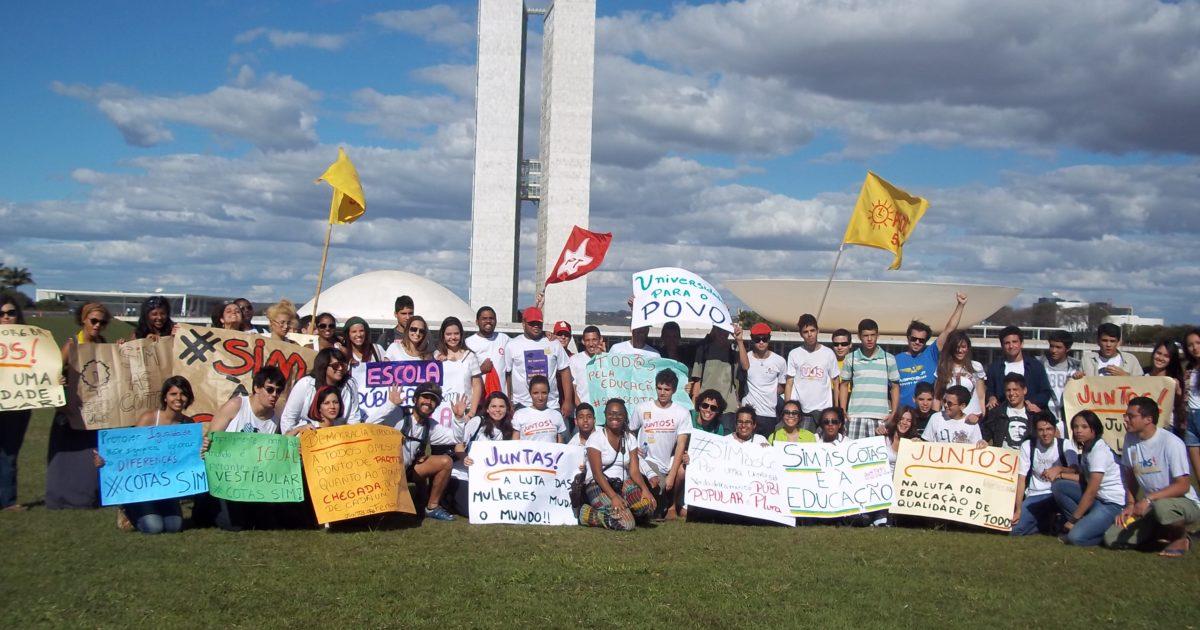Ato a favor das cotas em Brasília