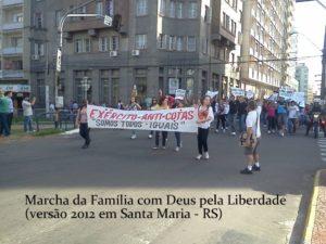 Estudantes do Exercito anti-cotas em Santa Maria/RS