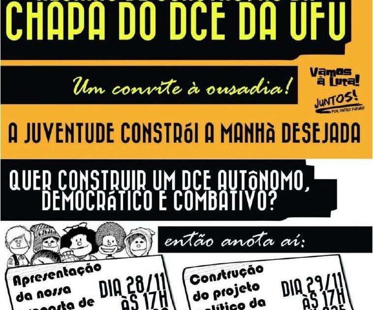Um convite à ousadia na UFU: em defesa de um DCE independente, combativo e democrático