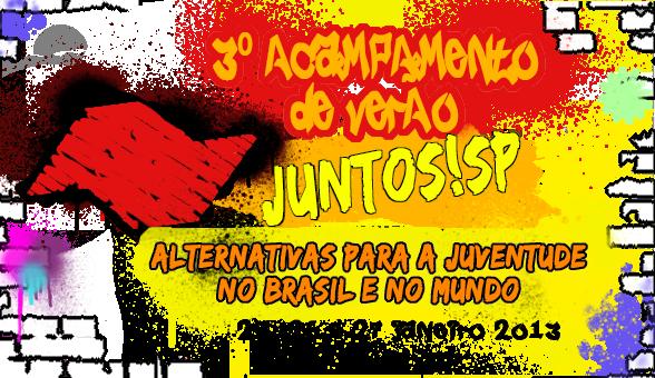 Inscrição para o III Acampamento Estadual do Juntos São Paulo