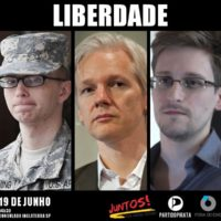 1 ano de refúgio de Assange: Liberdade para Assange, Manning e Snowden!