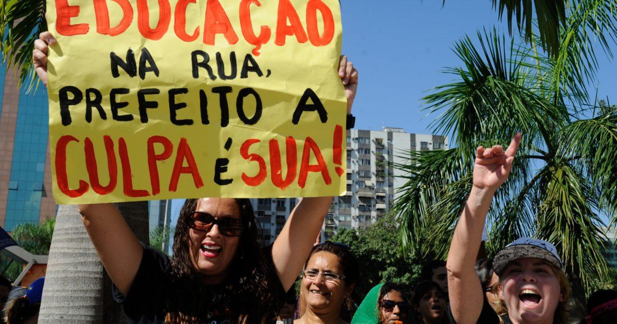 Não foi por 20 centavos, nem é só por 19%. Os educadores do Rio lutam pela educação pública!