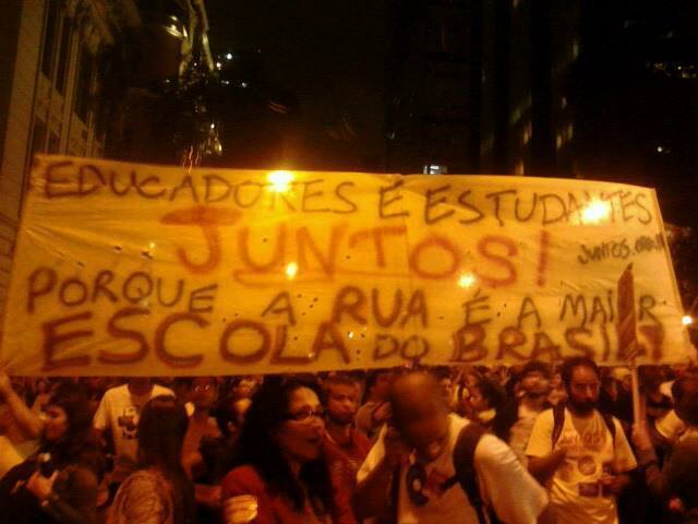 Tamo na rua: porque a rua é a maior escola do Brasil!