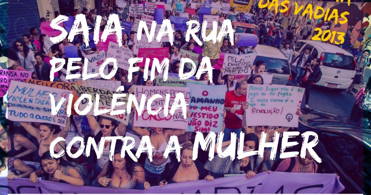 Por todas! Juntas na Marcha das Vadias em Pelotas