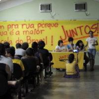 A voz dos estudantes das ruas –  1º Encontro do Juntos! nas Escolas