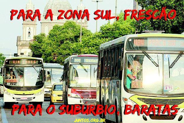 Ônibus cariocas: Frescão para a zona sul, baratas para o subúrbio