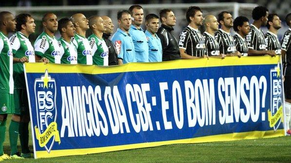 O Juntos! veste a camisa do Bom Senso F. C.