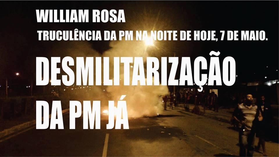 Lutar não é crime! Todo apoio à ocupação Willian Rosa!