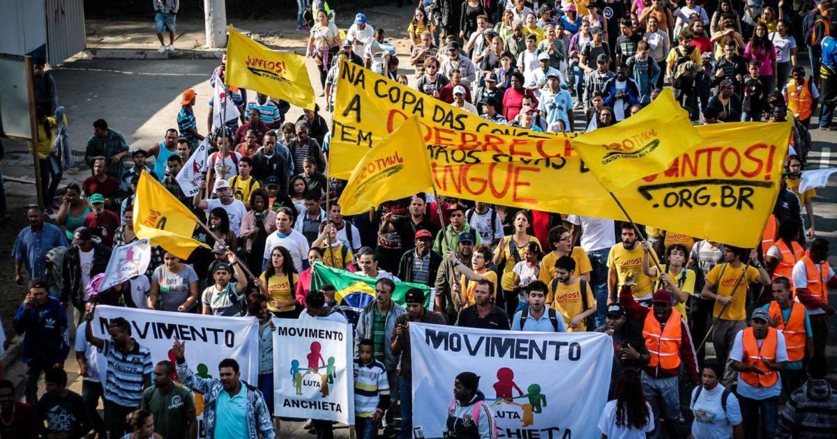 Nota pública dos movimentos: Copa sem povo, tô na rua de novo!