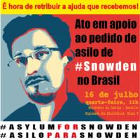 Quarta-feira, às 11h: Ato no Ministério da Justiça – Asilo para Snowden!