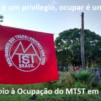 Todo apoio à Ocupação do MTST em Fortaleza