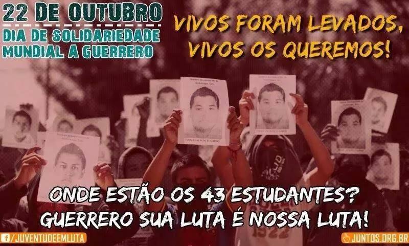 Movimento Estudantil Brasileiro Apoio a Luta de Guerrero no México
