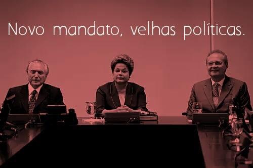 Se no palácio o ajuste de Dilma começou, nas ruas seguimos lutando por mais direitos!
