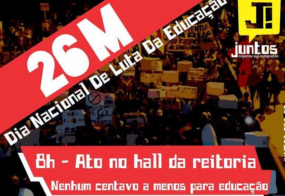 Estudantes vão às ruas de Brasília contra os cortes da educação