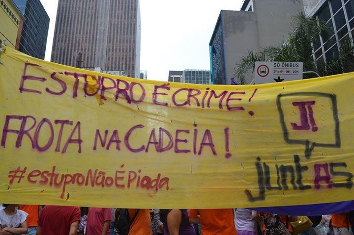 Estupro é Crime! Prisão para Alexandre Frota! Não vamos nos calar diante de nenhuma ameaça! Todo apoio à Sâmia Bomfim!