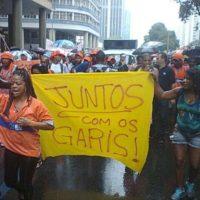 Nota de apoio e solidariedade aos garis do Rio de Janeiro demitidos pela Comlurb!