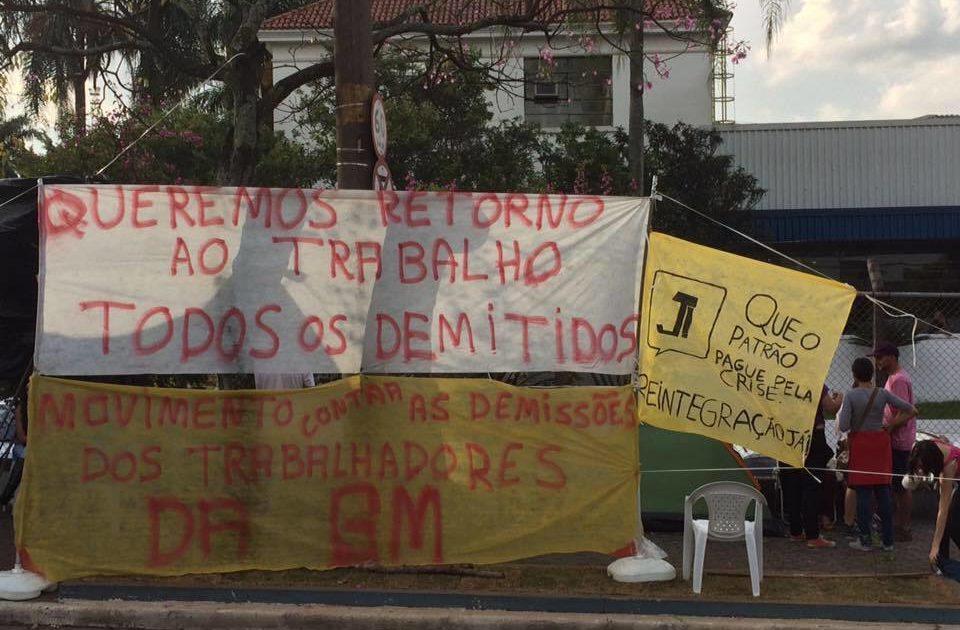 Todo apoio à luta dos demitidos da GM de São Caetano do Sul!