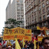 Cresce a luta dos trabalhadores do RS contra o ajuste e o pagamento da dívida pública