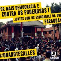 Viva a Primavera Estudantil no Paraguai por Democracia!