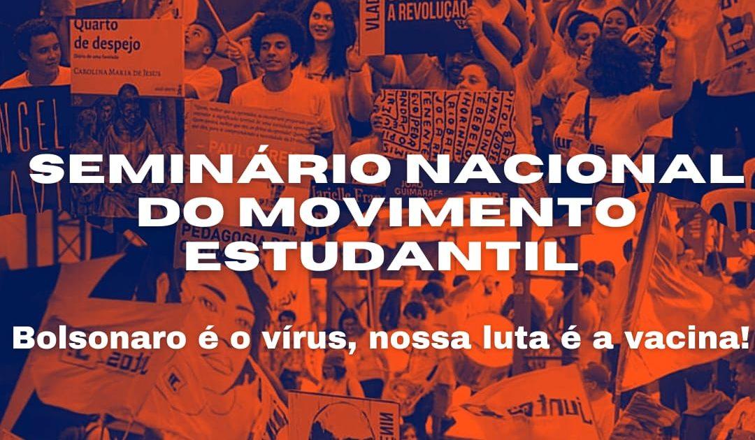 Convocatória secundarista para o Seminário Nacional do Movimento Estudantil
