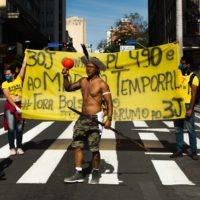 Ação do Juntos Campinas protesta contra o PL 490 e o marco temporal