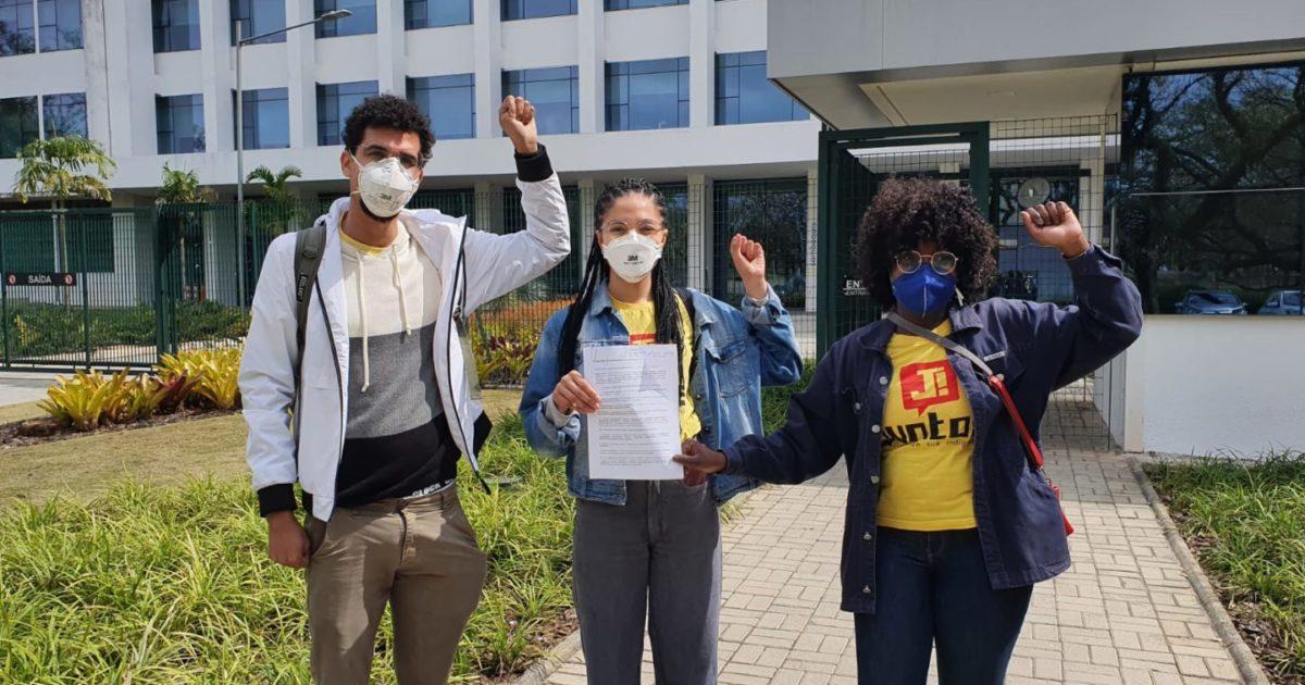 Juntos! protocola projeto na reitoria da USP que prevê retirada de homenagens a racistas e eugenistas da universidade