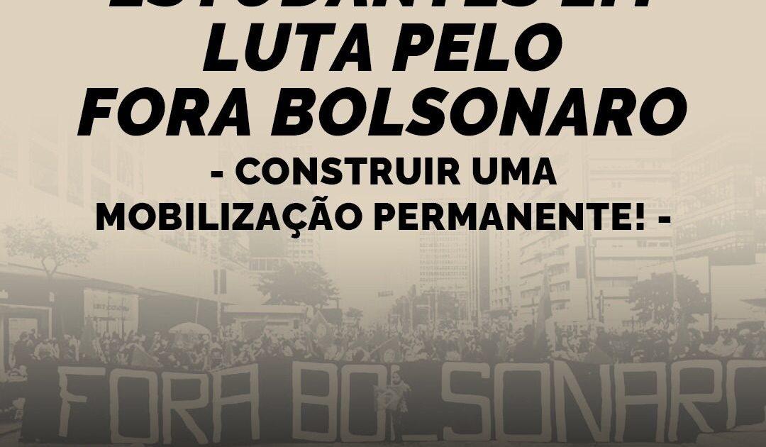Estudantes em luta pelo Fora Bolsonaro – construir uma mobilização permanente!