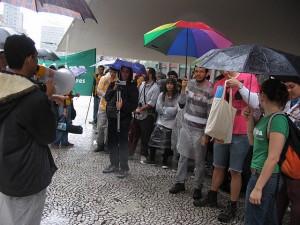Indignados na Praça do Patriarca no 15.O em São Paulo