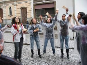 Alunos da Rede Emancipa protestam pela educação no 15.O
