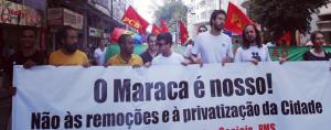 No Rio, o Juntos! esteve em marcha com cerca de mil pessoas de diversos coletivos e agrupamentos contra a privatização da cidade maravilhosa e em defesa dos direitos da população carioca.