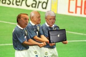 Os donos do futebol: Marin, Havelange e Teixeira.