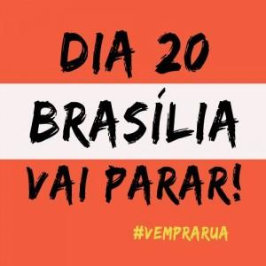 Mude sua foto do perfil! Vamos parar Brasília!
