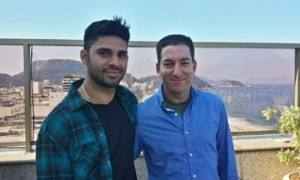David Miranda e Glenn Greenwald no Rio
