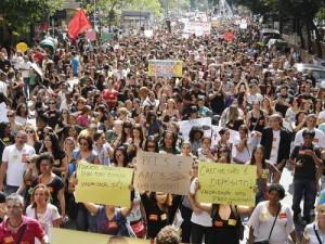 Greve dos profissionais da Educação, Rio – 13 (Foto: Fabio Rossi/ O Globo)