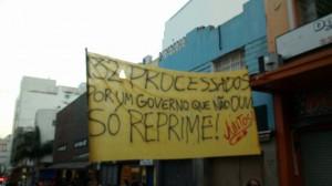 """ato contra a criminalização - """"132 processados por um governo que não ouve, só reprime!"""""""