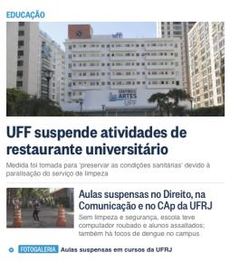 Atividades suspensas nas Federais do RJ