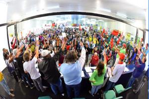 Congresso da Fasubra que elegeu nova direção independente do governo federal e aprovou indicativo de greve para o dia 28 de maio